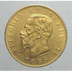 Vitt. Eman. II - 20 Lire 1865