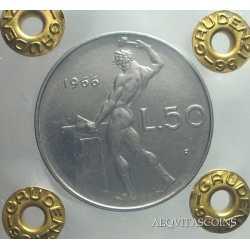 50 Lire  Vulcano 1966 FDC