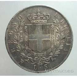 Vitt. Eman. II - 5 Lire 1877 R