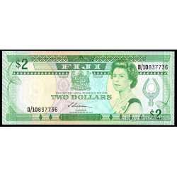 Fiji - 2 Dollars 1988