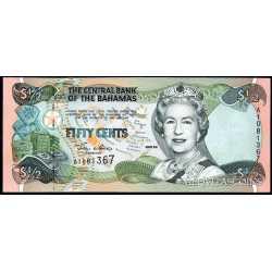 Bahamas -  1/2 Dollar 2001
