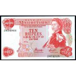 Mauritius - 10 Rupees 1967