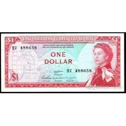 East Caribbean  - 1 dollar 1965