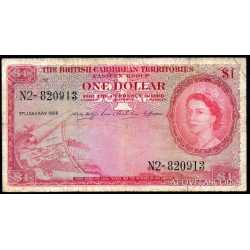 British Caribbean Territories  - 1 dollar 1956