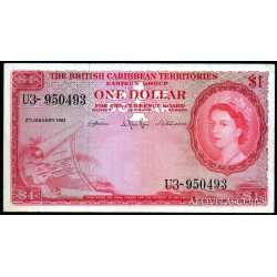 British Caribbean Territories  - 1 dollar 1961