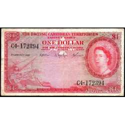 British Caribbean Territories  - 1 dollar 1962