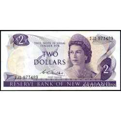 New Zealand - 2 Dollars 1968 / 75