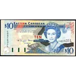 East Caribbean  - 10 Dollars 1994