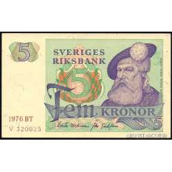 Svezia - 5 Kronor 1976 UNC