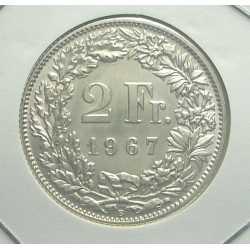 Switzerland - 2 Francs 1967