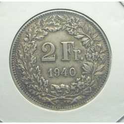 Switzerland - 2 Francs 1940