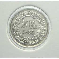 Switzerland - 1/2 Franc 1965