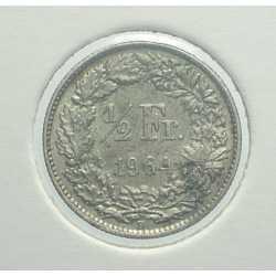 Switzerland - 1/2 Franc 1964
