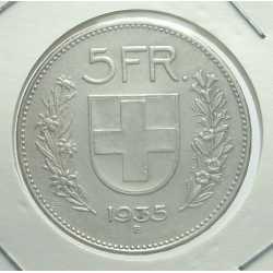 Switzerland - 5 Francs 1935